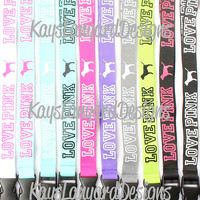 Love Pink Lanyard - You Choose Color