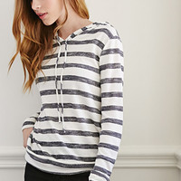 Hooded Stripe Pullover