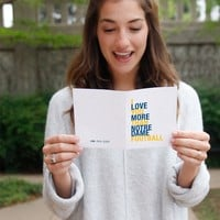 I Love You More Than Notre Dame Football greeting card