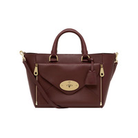 Small Willow Tote in Oxblood Silky Classic Calf with Soft Gold | Willow | Mulberry