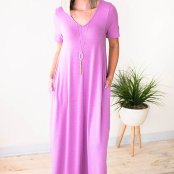 No Stopping Now Maxi Dress in Purple