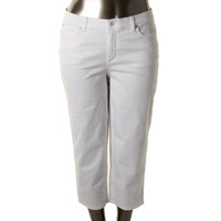 JM Collection Womens Capri Comfort Waist Casual Pants