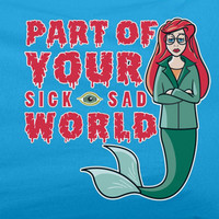Daria MTV Sick Sad world Little Mermaid Disney parody Tee T-shirt