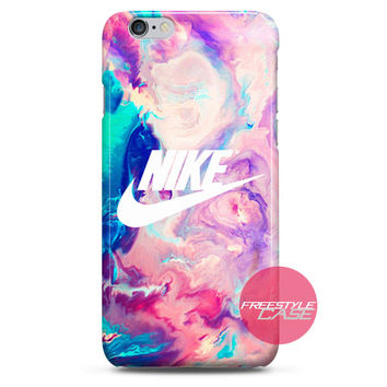 Nike Logo Water Marble Hipster iPhone Case 3, 4, 5, 6 Cover