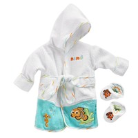 Disney / Pixar Finding Nemo Robe & Booties Set - Baby, Size: One Size (Orange)
