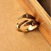 1pcs Vintage Punk Style Eagle Claw Band Cute Ring free shipping new arrival