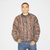 1990s Cosby Sweater - 90s Coogi Style Sweater - Vintage Hip Hop Sweaters - MT0011