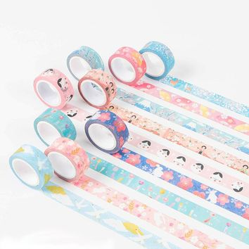 1X 15mm*7m lovely Japan washi tape sticker scrapbooking planner masking tapes office adhesive kawaii DIY seal stationery tape