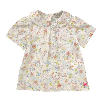 Paul Smith Junior - Baby Girl Lou Liberty Peter Pan Blouse