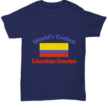 World's Coolest Columbian Grandpa Father's Day T-Shirt Gift
