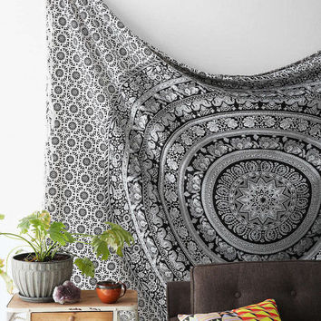 Twin Mandala Hippie Tapestry Wall Hanging Indian Mandala Tapestries Bedspread Wall Decor
