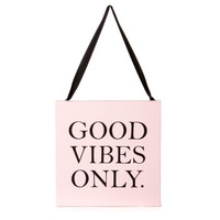 Good Vibes Only Mini Wall Canvas