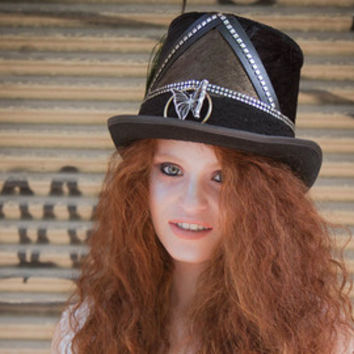 Burning Man Hat, Playa captain hat, sparkle military hat, Captain's hat, military style, fringe sequins sailor costume blazer cap, yacht hat