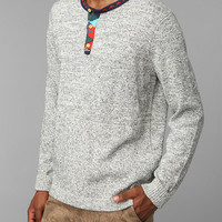 Urban Outfitters - Koto Jacquard Trim Henley Sweater