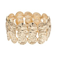Apt. 9 Hammered Stretch Bracelet (Yellow)