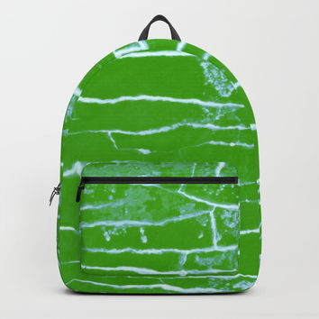 green stone Backpacks by Julius Marc
