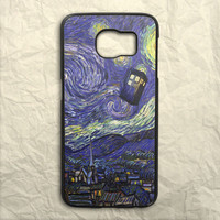 Tardis Doctor Who Starry Night Painting Samsung Galaxy S6 Case