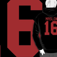 James Maslow jersey - red text