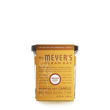 Mrs. Meyer's Soy Candle - Orange Clove - Case Of 6 - 4.9 Oz Candles