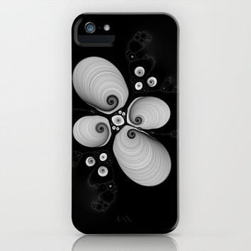 Black and White Fractal 6 iPhone Case by Christy Leigh | Society6