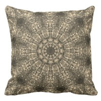 Laced ornamental pattern in the boho-style throw pillow