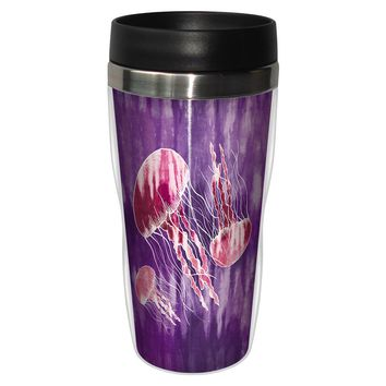 Tie Dye Jelly Travel Mug - Premium 16 oz Stainless Lined w/ No Spill Lid