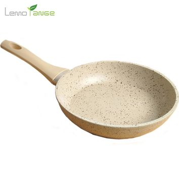 Medical Stone Coating Frying Pan Lemorange 20cm Non-stick Healthy Eggs Pot General Use For Gas And Induction Cooker TQQ0014