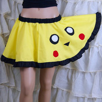 Pikachu Pokemon Retro Gamer Applique Circle Skirt Adult ALL Sizes - MTCoffinz