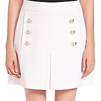 NO. 21 - Gertrude Button-Detail Skirt - Saks Fifth Avenue Mobile