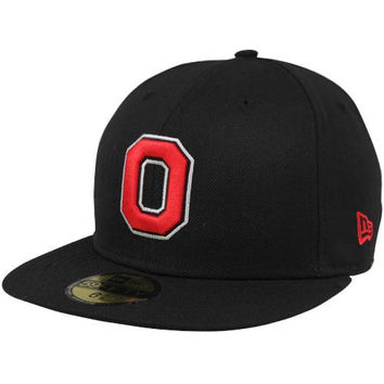 New Era Ohio State Buckeyes Victory 59FIFTY Fitted Flatbill Hat - Black