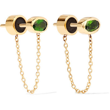 IAM by Ileana Makri - Ponds gold-plated diopside earrings