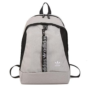ADIDAS tide brand men and women models wild casual computer bag backpack grey