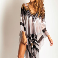 Lotta Poncho in Tahoe grey: SoleilBlue.com
