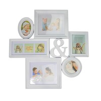 """27.75"""" White Multi-Sized Photo Picture Frame Collage Wall Decoration"""