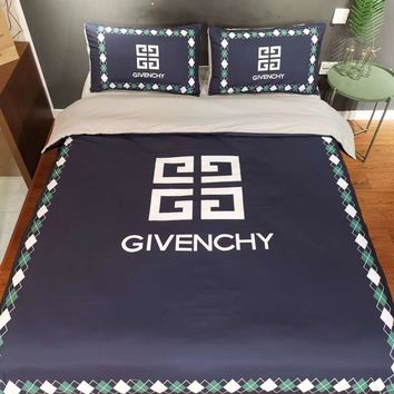 Soft Comfortable GIVENCHY Bedding Blanket Quilt Coverlet Pillow shams 4 PC Bedding Set