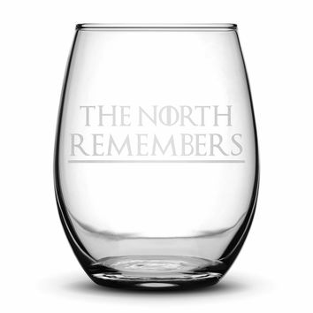 Premium Wine Glass, Game of Thrones, The North Remembers, 15oz