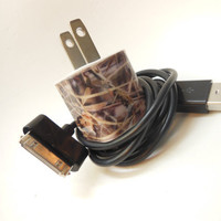 Camo iPhone Charger Decorated with Personality