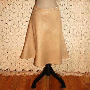 Linen Skirt Circle Skirt Full Skirt Casual Skirt Beige Skirt Tan Skirt Ralph Lauren Si