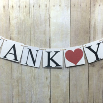 Thank you Banner / Thank you Sign / Thank you Photo Props / Rustic Wedding