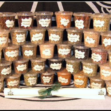 Witch Herb Set 40 Magical Herbs Starter Kit in reusable tubs for Rituals  Wiccan Altar Pagan Rituals Blends Wicca Spells