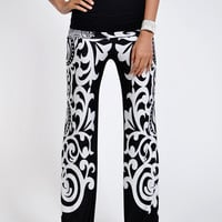 Black and White Printed Palazzo Pants