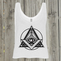 Coachella clothing. Festival top. Gypsy clothing. Bohemian outfit. Boho clothing. Womens tank top. Trendy summer top. Beach tank. Illuminati