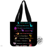 Disney Lessons Learned Mash, handmade bag, canvas bag, tote bag