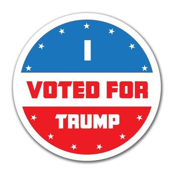 DCCKU3R Election 2016 I Voted For Trump 4x4 Round Sticker