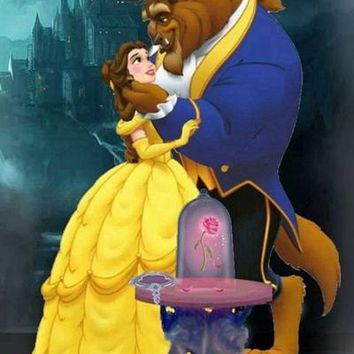 5D Diamond Painting Beauty and the Beast Castle Scene Kit
