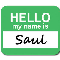Saul Hello My Name Is Mouse Pad