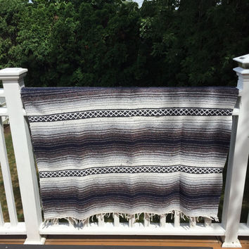 Gypsy Blanket, Boho Blanket, Tribal Print Blanket, Mexican Blanket, Beach Blanket, Music Festival, Surf Wear, Drug Rug