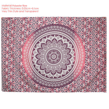 Square Mandala Tapestry Hippie Wall Hanging Tapestries Boho Bedspread Beach Towel Mat Blanket Table Cloth 210*150