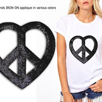 Iron On Patch Applique for DIY Crafts and Home Decor