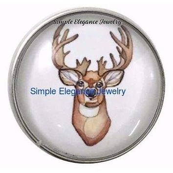 Deer Head Mount 20mm Snap Charm